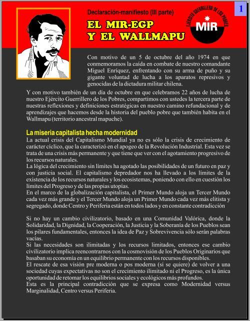 El MIR-EGP y el Wallmapu