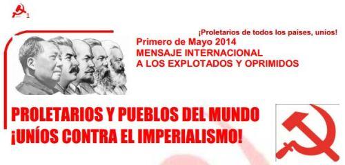 Msg de lso explotados y oprimidos 1 de mayo 2014