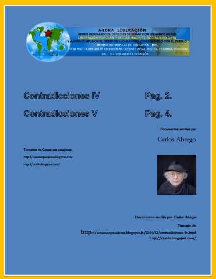 Contradicciones IV V-caratula