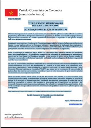 Comunicado Venezuela