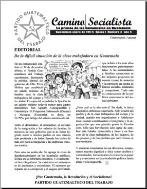 Portada Camino Socialista Guatemala