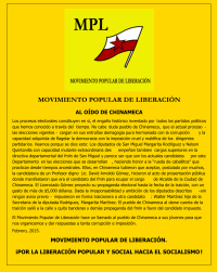 Comunicado MPL - Chinameca