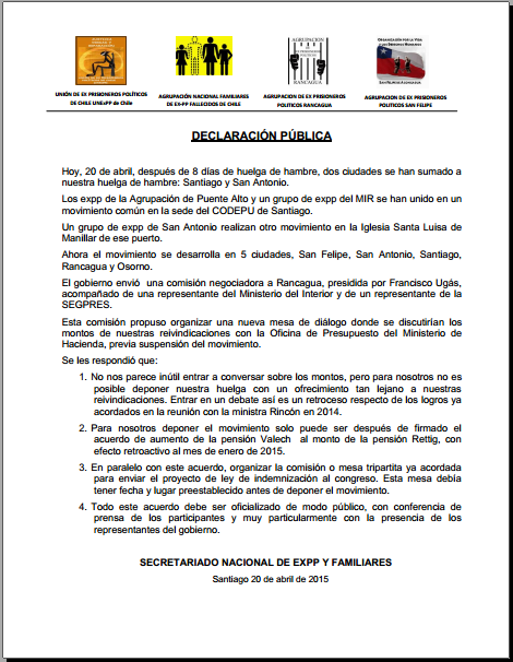 Declaracion publica no. 3 chile