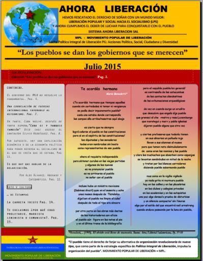 AHORA LIBERACIÓN JULIO 2015